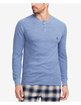 Men's Waffle Knit Henley Shirt by Polo Ralph Lauren