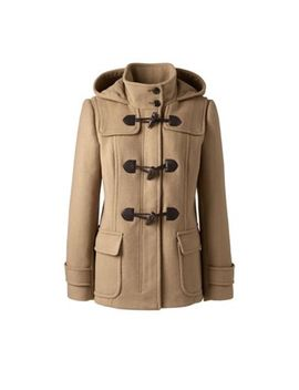 Lands' End   Beige Petite Wool Blend Duffle Coat by Lands' End
