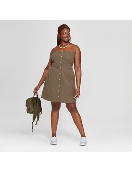 Women's Plus Size Tube Button Front Dress   Universal Thread™ Olive by Shop All Universal Thread™