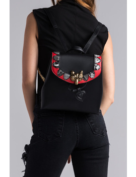 Canteen Embellished Backpack by Akira