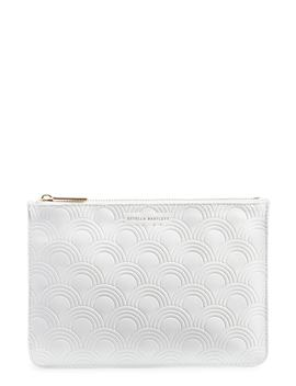 Medium Embossed Faux Leather Pouch by Estella Bartlett