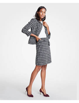 Tweed Houndstooth Jacket by Ann Taylor