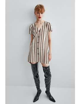 Short Dress With Buttons  View All Dresses Woman by Zara