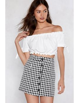 Stretch The Rules Off The Shoulder Crop Top by Nasty Gal
