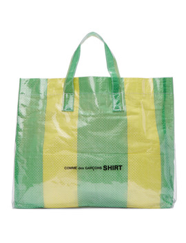 Green & Yellow Pvc Picnic Tote by Comme Des GarÇons Shirt
