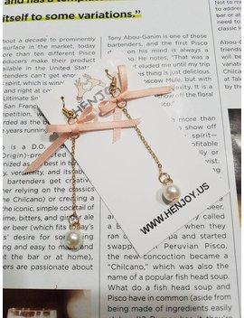 Korean Fashion Trendy Simple Ribbon Bow Earrings by Henjoyhandmade