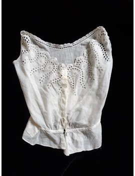 1910s Edwardian Top/Corset Cover W/ Adorable Patches! by Palooka Rags