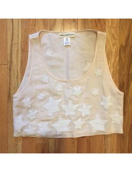 Mara Hoffman Embroidered Crop Top Star Motif New Without Tag M by Mara Hoffman