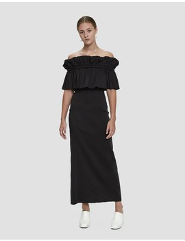 Mina Ruffled Linen Dress by Rejina Pyo