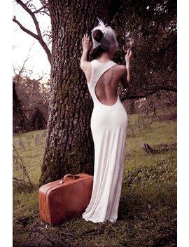 Lauren   Grecian Backless Asymmetrical Jersey Maxi Wedding Prom Dress Ruched Sexy Column Gown   Fashion Nova Kendall Jenner Kim Kardashian by Frock Los Angeles