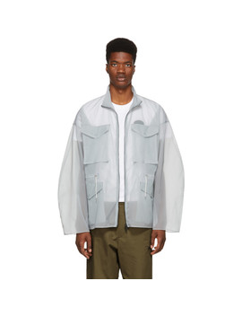 Grey Transparent Ghost Field Jacket by Oamc