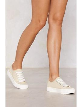 Let's Take This Outside Canvas Sneaker by Nasty Gal