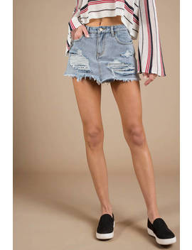 Minkpink Trash Talk Denim Denim Skort by Tobi