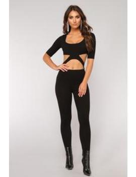 Roslyn Cut Out Jumpsuit   Black by Fashion Nova