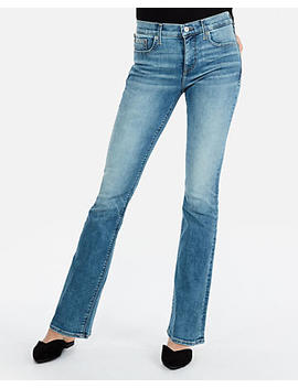 Mid Rise Light Denim Perfect Stretch+ Barely Boot Jeans by Express
