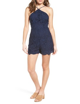 Halter Lace Romper by Astr The Label