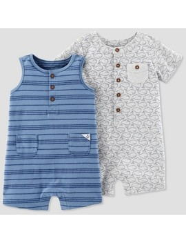 Baby Boys' 2pk Romper   Just One You™ Made By Carter's® Blue/Gray by Shop All Just One You Made By Carter's