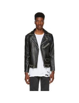 Black Distressed Leather Joey Jacket by Stolen Girlfriends Club