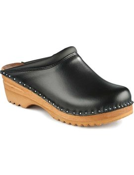 Troentorp Women's Båstad Rembrandt Leather Clog by Troentorp Clogs