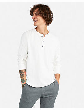 Long Sleeve Stretch Henley by Express