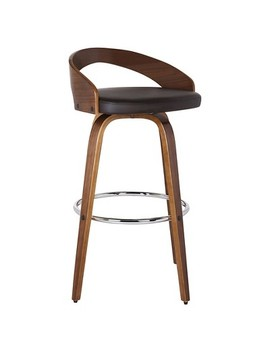 "Sonia 30"" Faux Leather Barstool  Brown   Armen Living by Shop All Armen Living"