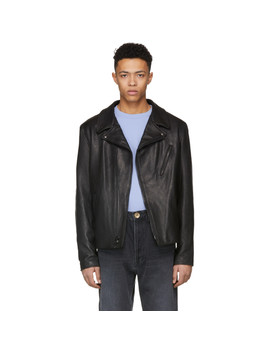 Black Raven Perfecto Leather Jacket by Schott