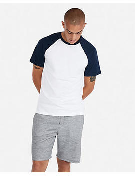 Supersoft Crew Neck Stretch Baseball Tee by Express