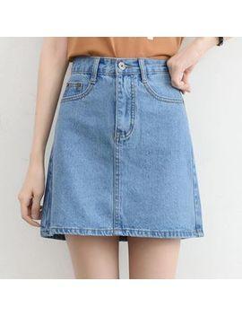 Denim A Line Skirt by Meowko
