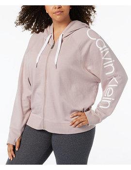 Plus Size Logo Print Hoodie by Calvin Klein