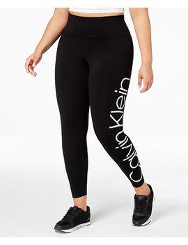 Plus Size Logo High Rise Leggings by Calvin Klein Performance