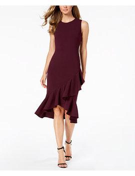 Crisscross Ruffle Sheath Dress by Calvin Klein