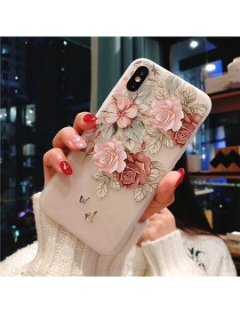 Phone Case For I Phone 7 8 Plus Rose Floral Leaves Cases Flower Silicon Protect Soft Full Cover For I Phone 6 6 S 5 5 S Se Case Capa by Kry