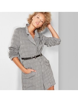 Women's Plaid Oversized Blazer   Wild Fable™ Gray by Shop All Wild Fable™