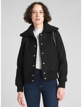 Varsity Wool Bomber Jacket by Gap
