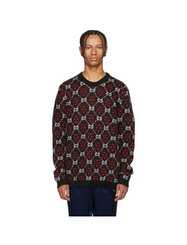 Black & Red Gg Logo Sweater by Gucci