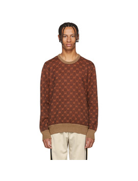 Brown & Orange Gg Logo Sweater by Gucci