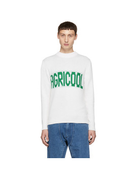White 'agricool' Sweater by Anton Belinskiy