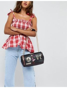 Love Moschino Shoulder Bag With Charms by Love Moschino