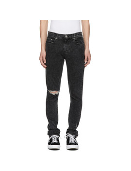 Black Roxy Ripped Slim Jeans by Adaptation