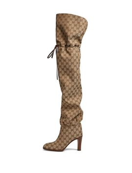 Original Gg Canvas Over The Knee Boot by Gucci