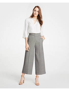 The Petite Dobby Wide Leg Marina Pant by Ann Taylor