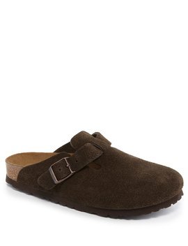 Women's Boston Suede Soft Footbed Clogs by Generic
