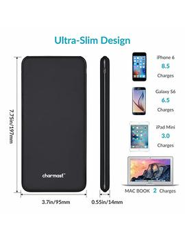 26800m Ah Power Bank Portable Charger Usb Type C Battery Pack With 3 Input & 4 I Smart Output For Mac Book Nintendo Switch I Phone I Pad Nexus Samsung Huawei (Black) by Charmast