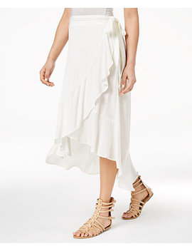 Juniors' High Low Wrap Skirt, Created For Macy's by American Rag