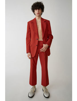 Boot Cut Trousers Red by Acne Studios
