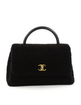 Pre Owned: Coco Top Handle Bag Shearling Medium by Chanel
