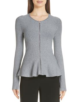 Marl Peplum Jacket by Theory
