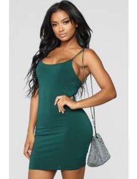 Vegas Go To Dress   Hunter Green by Fashion Nova