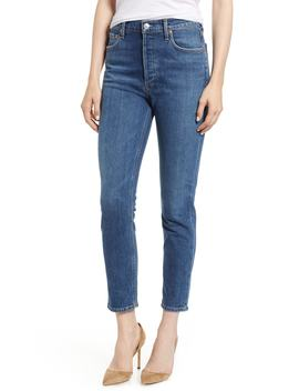 Nico High Waist Crop Slim Fit Jeans by Agolde