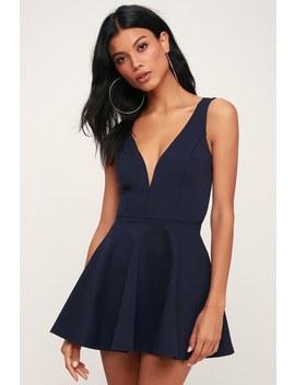 I Feel Good Navy Blue Skort Dress by Lulu's